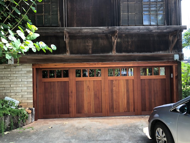 Amarr Design Custom Wooden Door (Sapele Mahogany with Clear Glass)